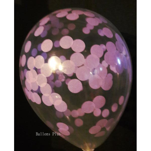 kit pour créer 12 ballons confettis pastel lilas