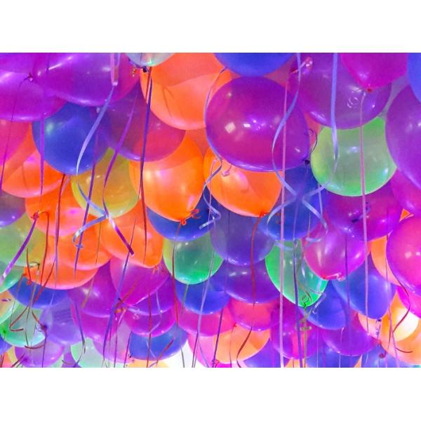 50 ballons 28 cm gonflé hélium