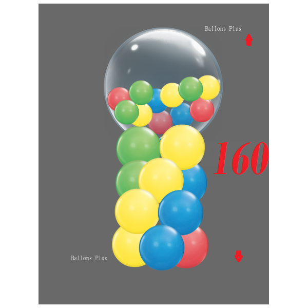 kit ballons colonne 4 niveaux 4 couleurs 160