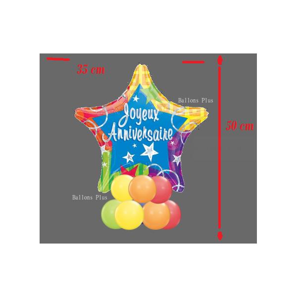 Etoile Joyeux anniversaire Kit centre de tablekCTJA2n4c Ballons Plus Kits Centres De Tables Ou Buffets