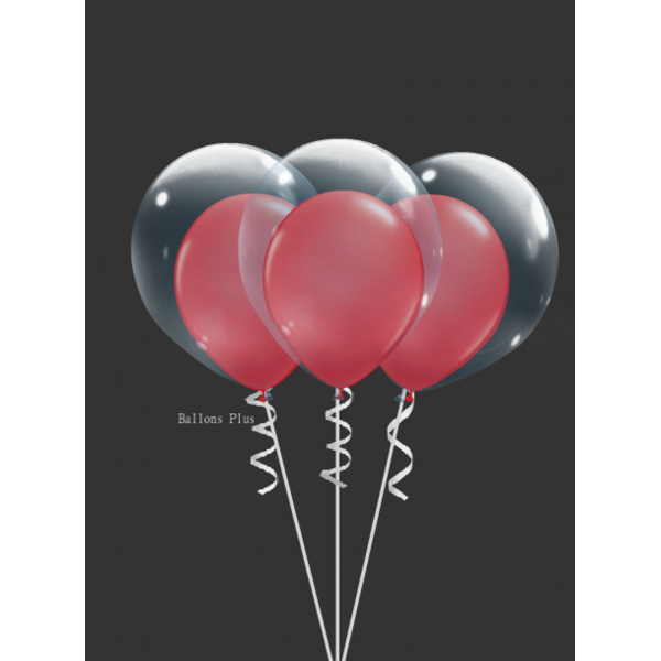 kit pour 6 ballons double bulle rouge6db28rge Kits Ballons