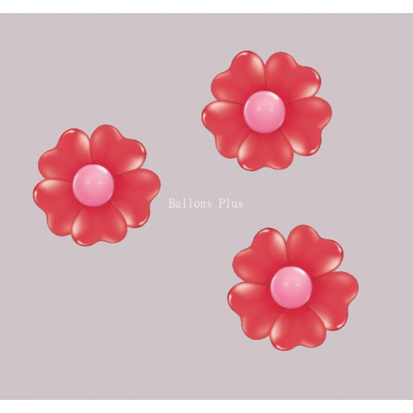 kit pour 3 fleurs coeur rouge à suspendre