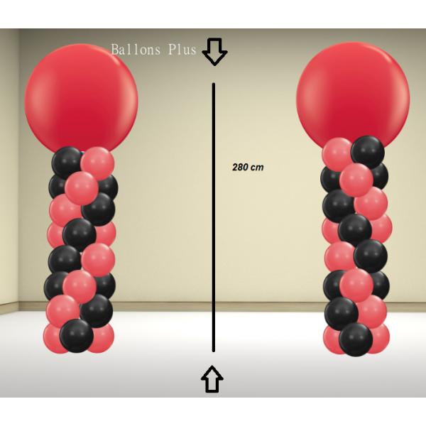 2 colonnes ballons kit 280 rouge noir