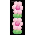 kit totem fleur 160 cm 3 couleurs à choisir