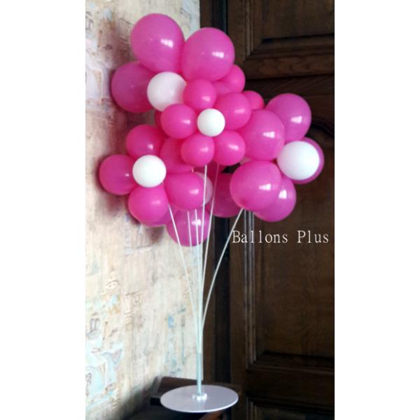 kit bouquet de 6 fleurs ballons 2 couleurs à choisir