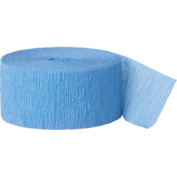 Rouleau papier crépon ice bleu 4.4 cm *24 m