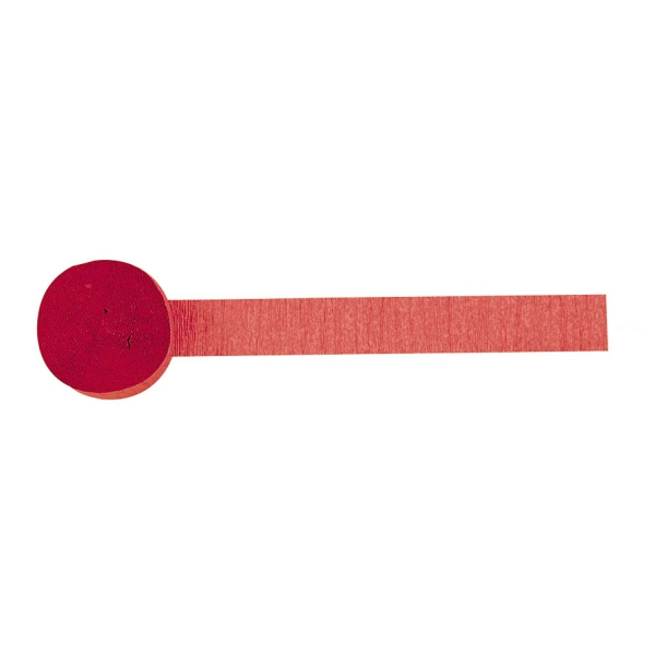 1 rouleau de papier crépon rouge 4.4 cm * 24 m