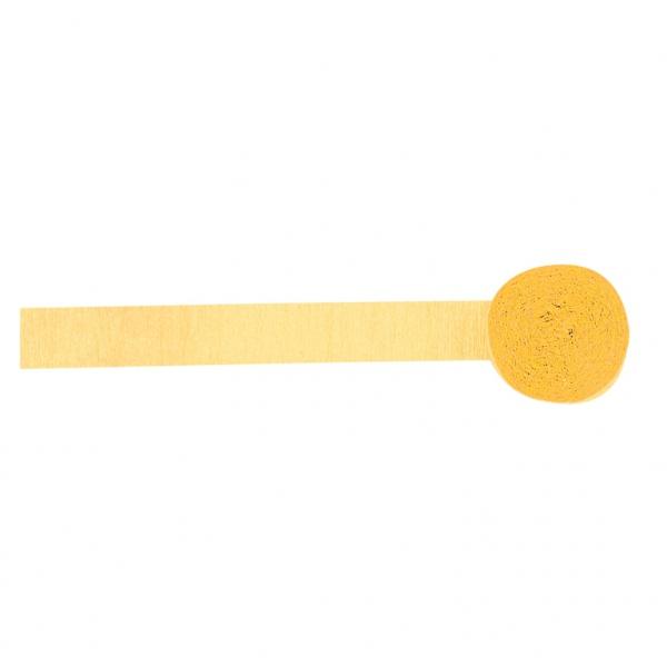 rouleau de papier crépon jaune pale 4.4 cm * 24 m