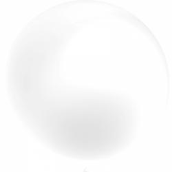 1 ballon 55cm blanc metal perle culture