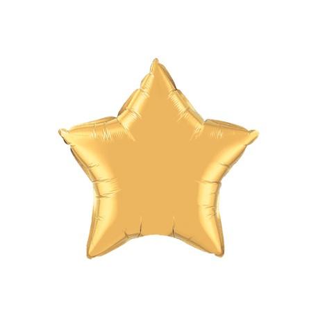 étoile mylar métal or 90 cm