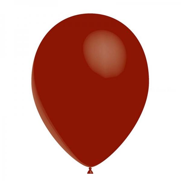 100 ballons bordeaux transparent 28 cm