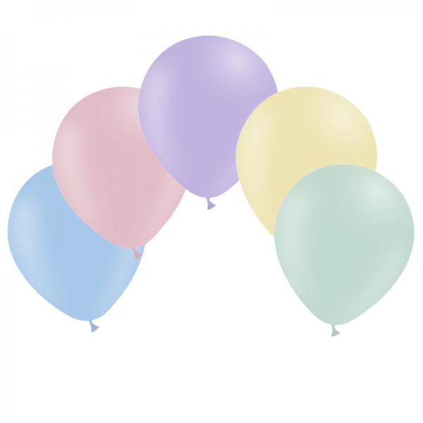 ballons pastel mate 14 cm POCHE DE 100 BALLONS