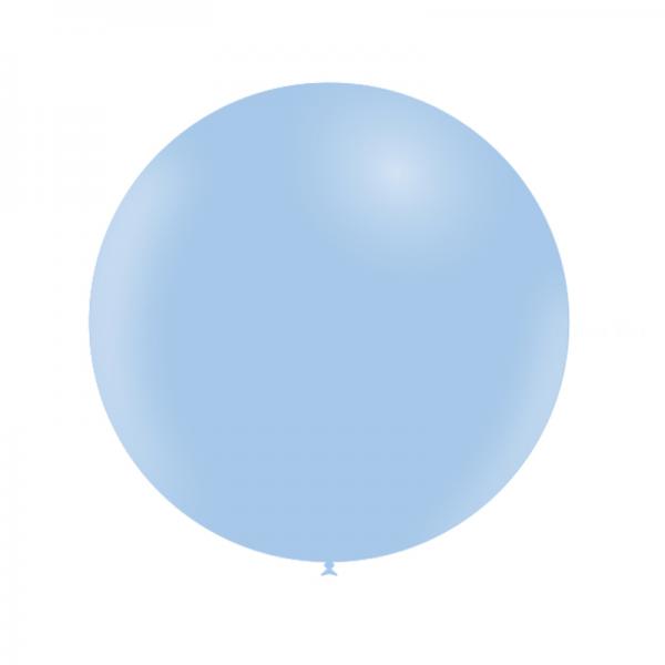 1 ballon 60cm bleu ciel pastel matte