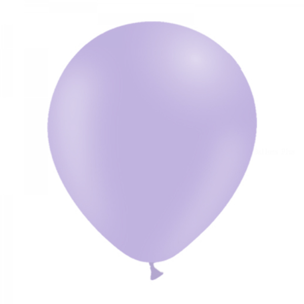 100 ballons lavande pastel mate 14 cm