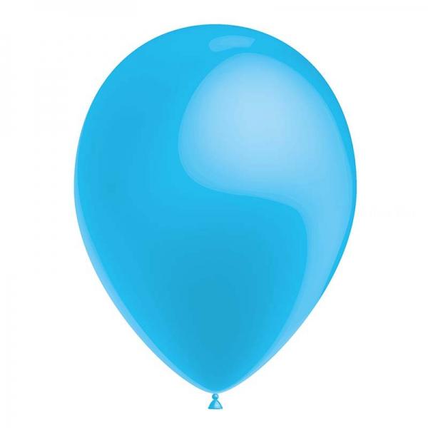 25 ballons bleu ciel métal 26 cm