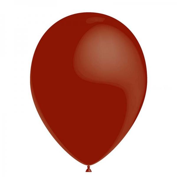 25 ballons bordeaux métal 26 cm