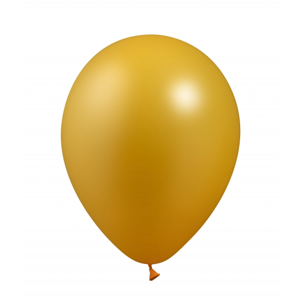 25 ballons or métal 26 cm