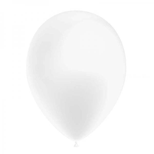 25 ballons blanc métal 26 cm