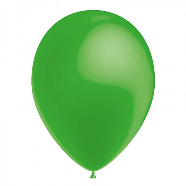 25 ballons vert métal 26 cm