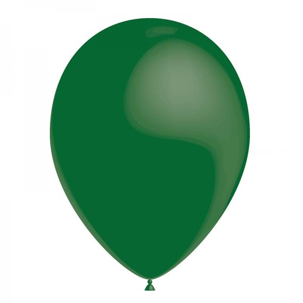 25 ballons vert foncé métal 26 cm
