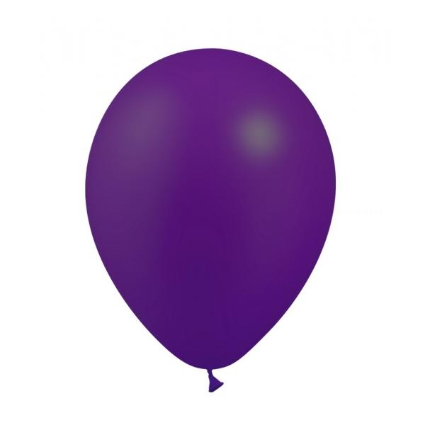 25 ballons violet métal 26 cm