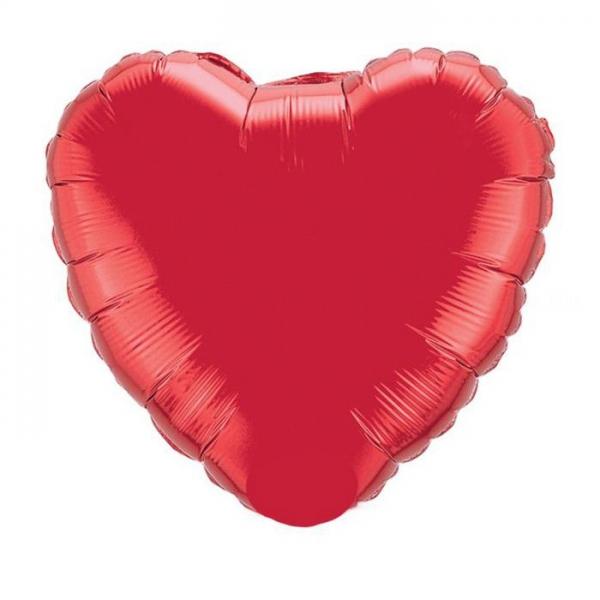 ballon coeur rouge 90 cm mylar