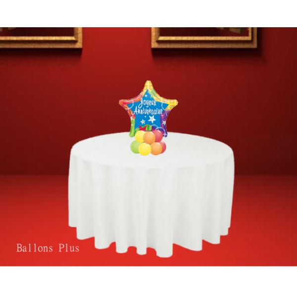 Etoile Joyeux anniversaire Kit centre de table