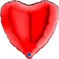 1 ballon mylar métal 45 cm coeur rouge