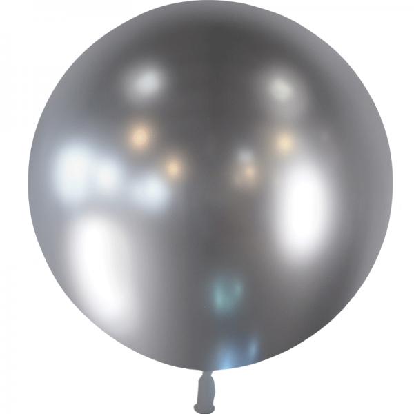 1 ballon effet miroir argent 55 cm
