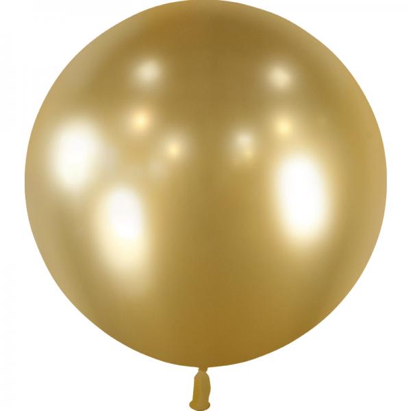 1 ballon effet miroir or 55 cm