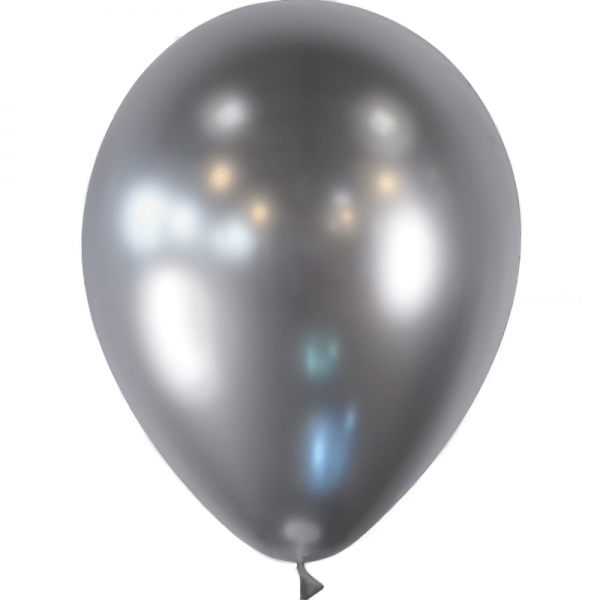 100 ballons argent effet miroir 12.5cm95561 BALOONIA 14 cm métal opaque eco lux Espagne