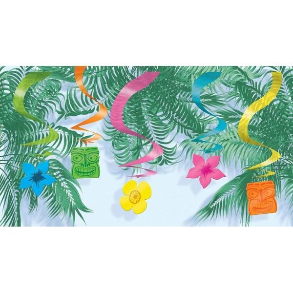 15 Guirlandes verticale hawaï 61 cm