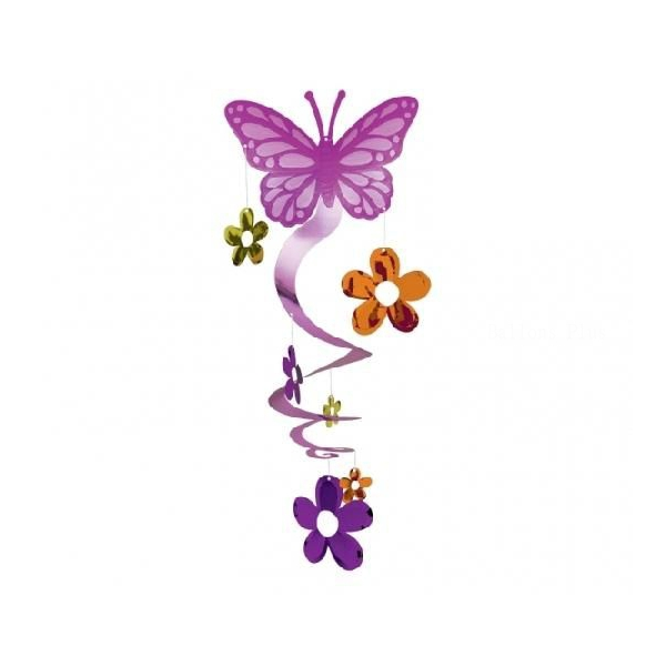 1 suspension spirale papillon hauteur 64 cm