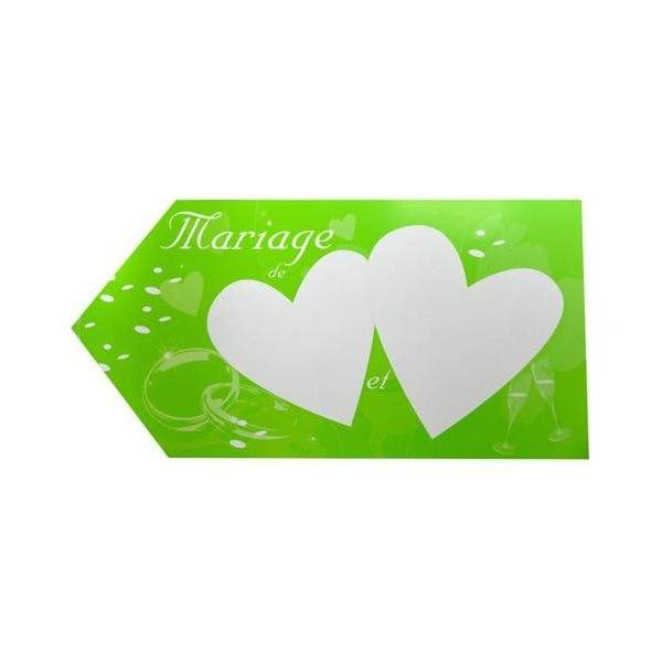 1 fleche indication mariage vert 20*40 2 faces
