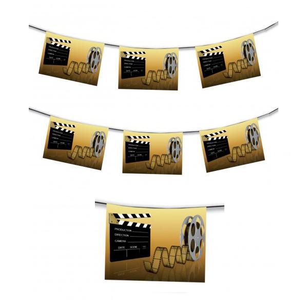 1 Guirlande cinéma 4m 8 pavillons 30*20 cm