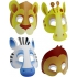 8 masques jungle carton