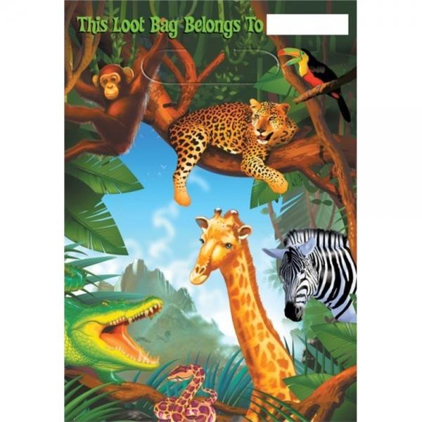 6 sachets friandises jungle
