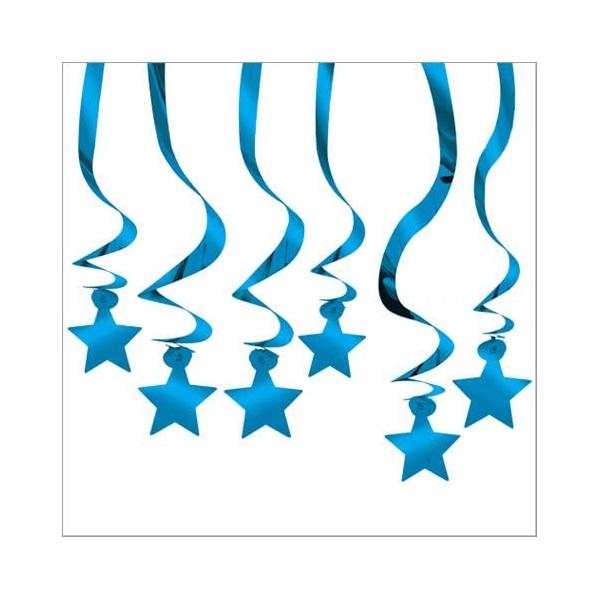 15 supspensions Etoile bleu 61 cm