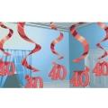 suspension rouge 40