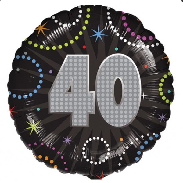 40 Ballon métal holographique 45 cm
