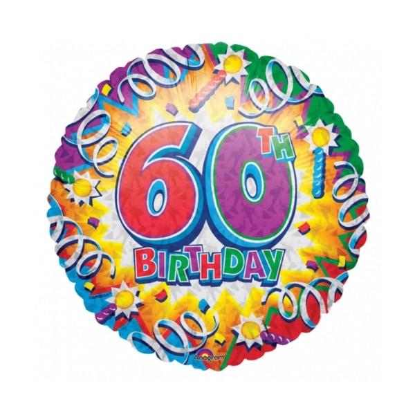 Ballon métal 45 cm diamètre 60 anniversaire