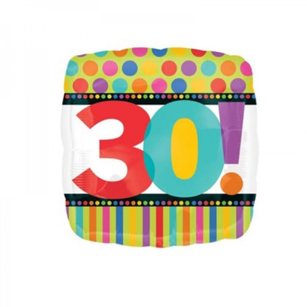30 anniversaire points et lignes