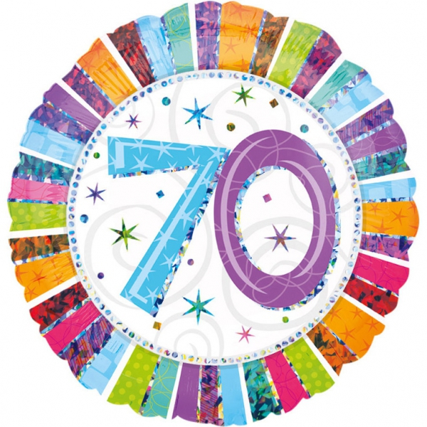 70 anniversaire radiant ballon mylar