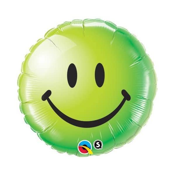 Smile vert qualatex 45 cm à plat