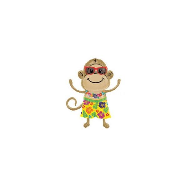 singe hawaïe boy ballon mylar 84cm