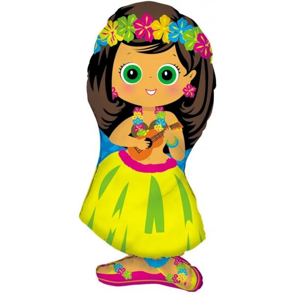 hula girl 86 cm non gonflé ballon mylar