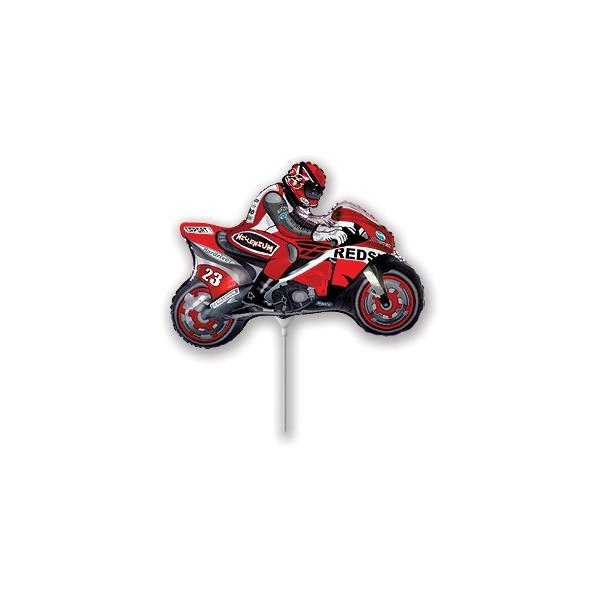 moto rouge mylar 23 cm environ