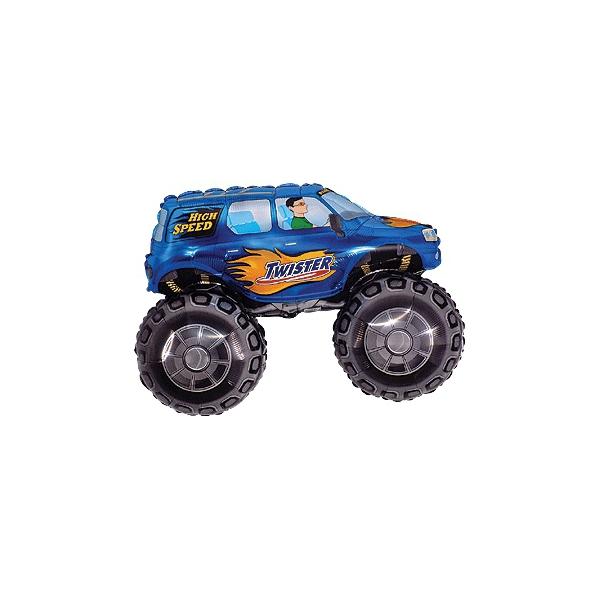 voiture bleu grande roue forme 23cm (gonflage air)