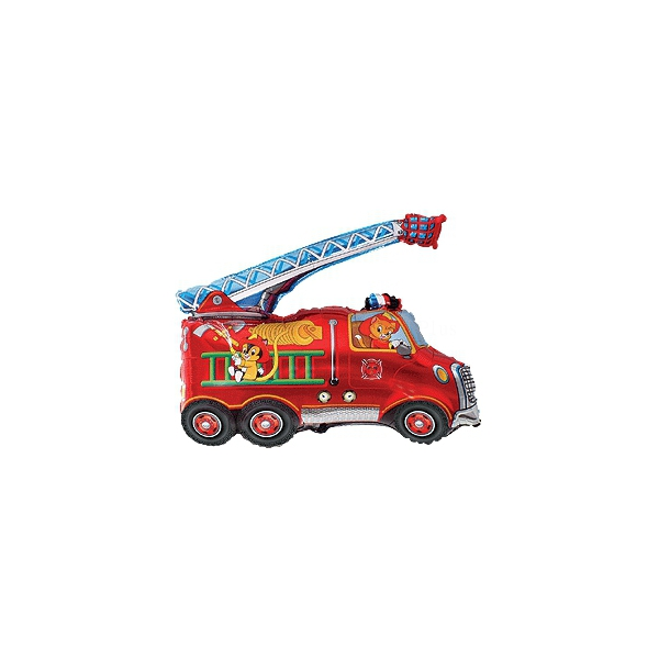 mini camion pompier (gonflage à l'air avec tige)