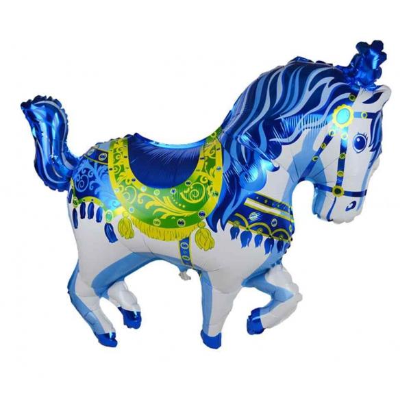 cheval manège bleu 22cm vendu non gonflé